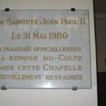Gedenkplaat bezoek JP II